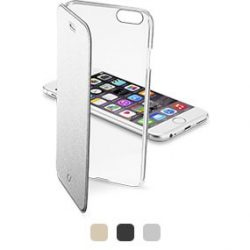 Калъф Cellularline Clear Book за iPhone 6 Silver